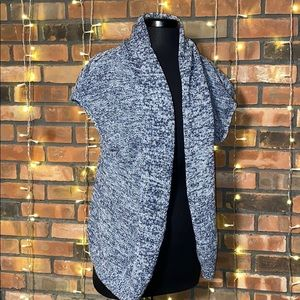 Gap Blue and White Short Sleeved Sweater Vest